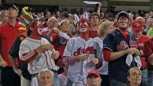 A byproduct of the racist logo is racist fan behavior.