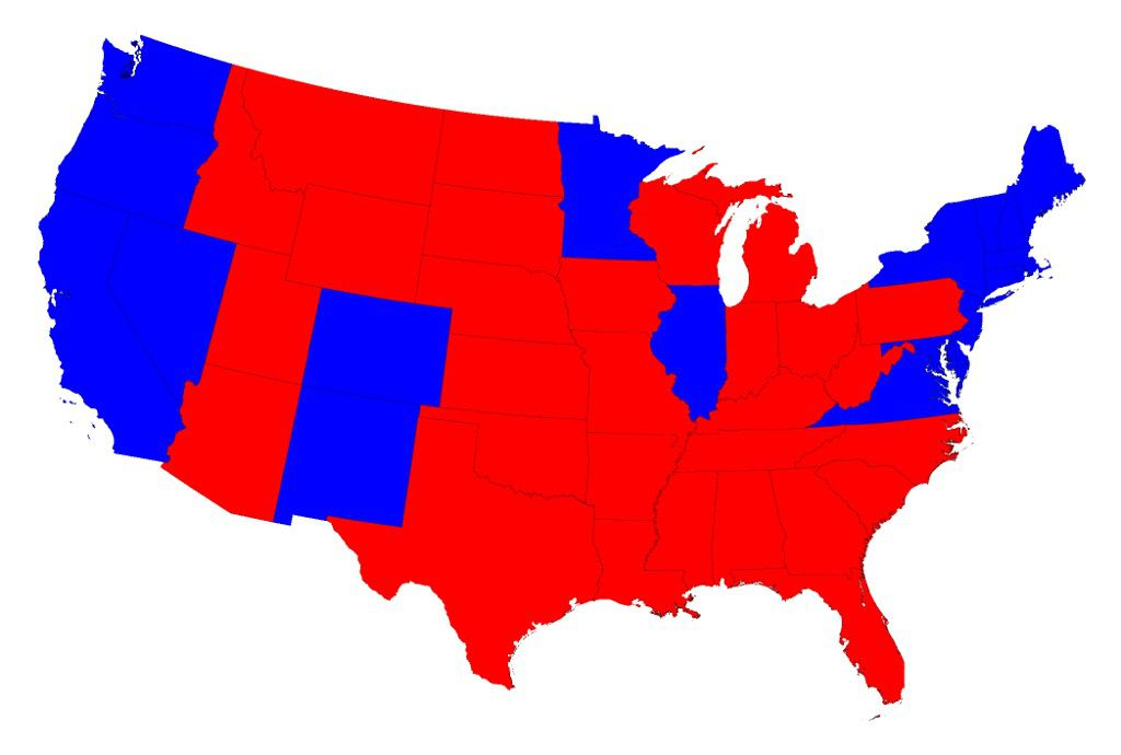 The 2016 Electoral CollegeMap