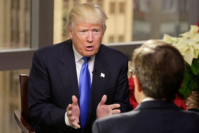 "Donald Trump speaks with Chris Wallace on ""Fox News Sunday,"" December 11, 2016. (Dylan Stableford/Yahoo News)"