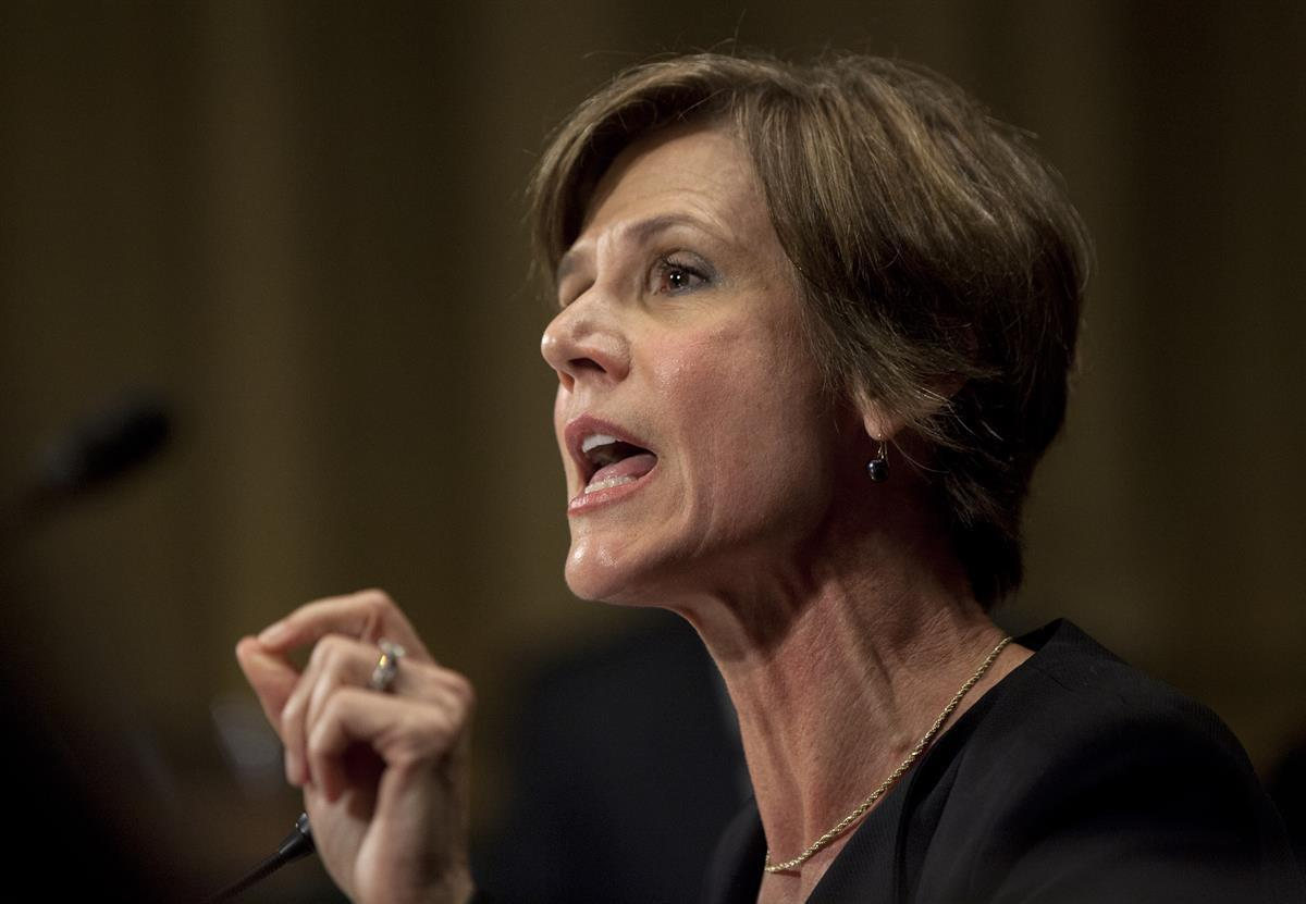 Former acting Attorney General Sally Yates (AP Photo/Carolyn Kaster)