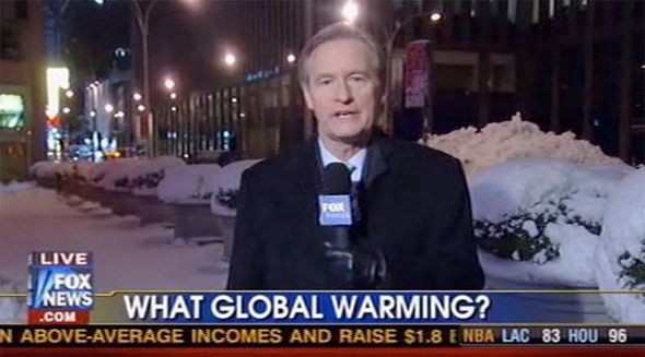 """You screaming """"SNOW IN ONE PLACE DOESN'T DISPROVE GLOBAL WARMING!"""" at your TV isn'tworking."""