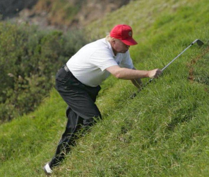 Donald Trump…golfing