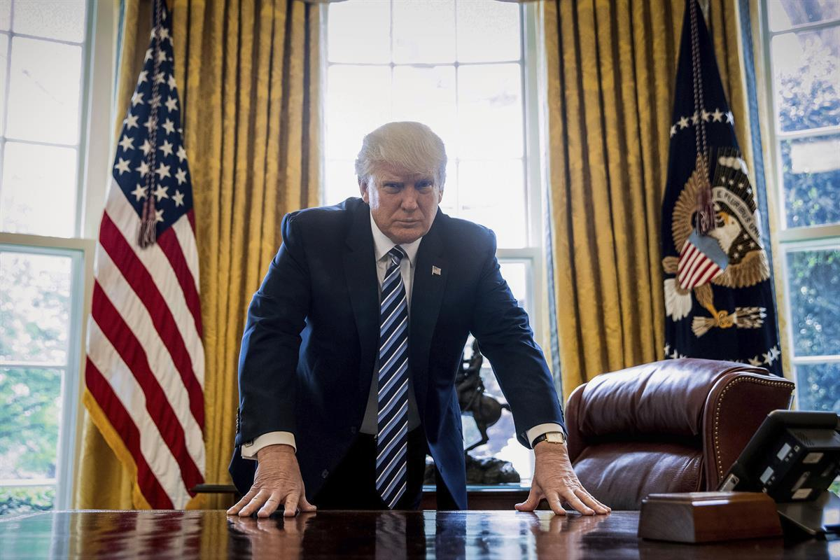 President Donald Trump in the Oval Office (AP/Andrew Harnik)