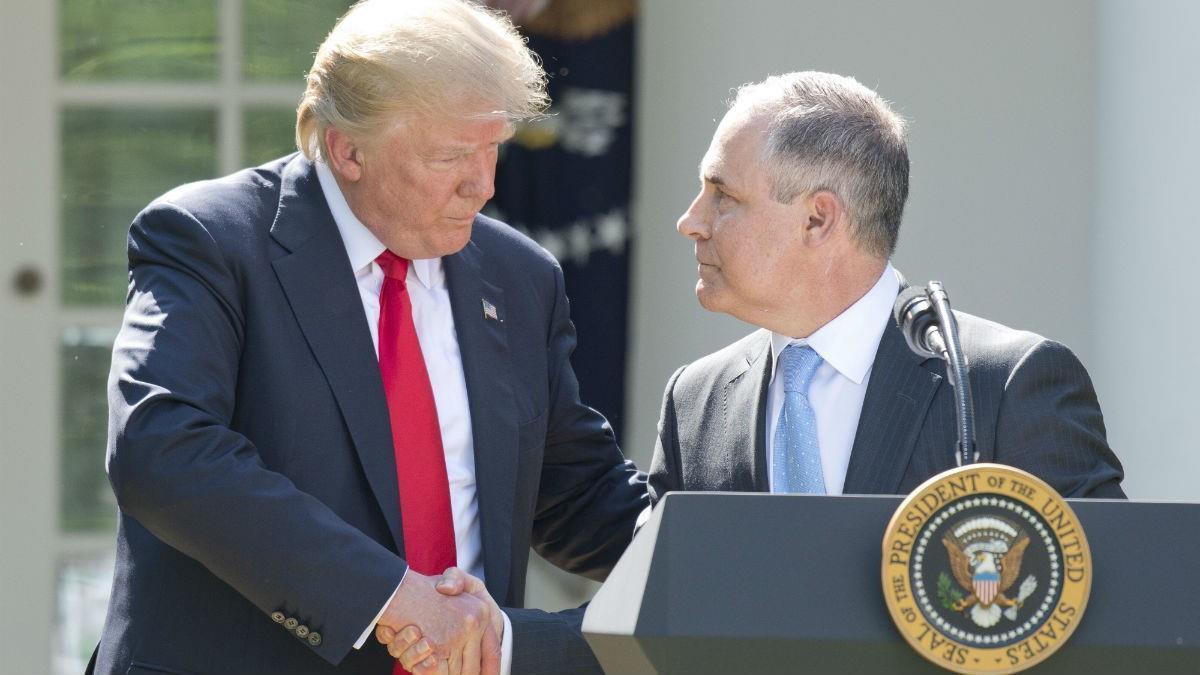 President Donald Trump and EPA Chief Scott Pruitt (Conservative Review)