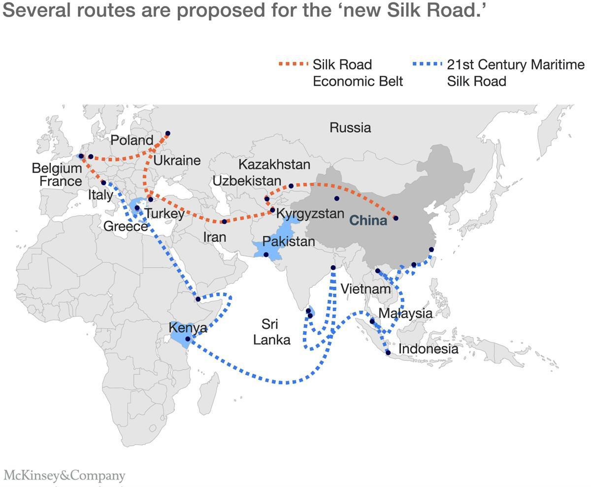 """""""One Belt, One Road: Connecting China and The World,"""" McKinsey &Company"""