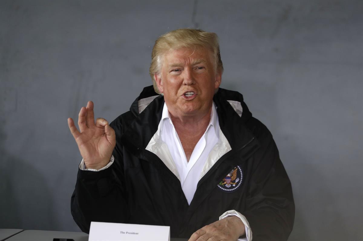 President Donald Trump in San Juan, Puerto Rico—Tuesday, Oct. 3, 2017 (AP Photo/Evan Vucci)
