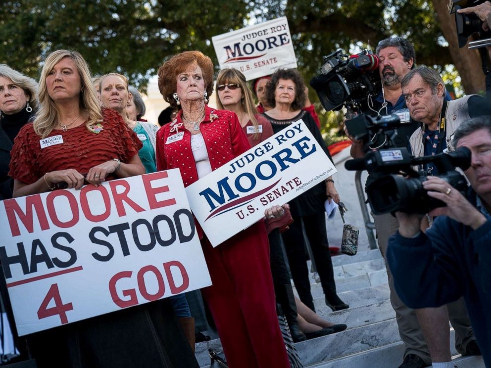 """""""Women For Moore"""" rally, Nov. 17, 2017 in Montgomery, Ala. (photo: Drew Angerer/Getty images)"""