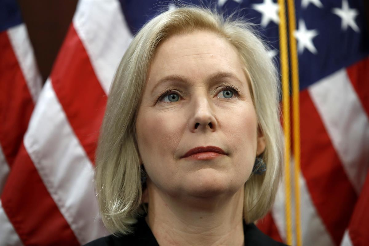 Sen. Kirsten Gillibrand, D-N.Y., attends a news conference, Tuesday, Dec. 12, 2017, on Capitol Hill in Washington. (AP Photo/Jacquelyn Martin)
